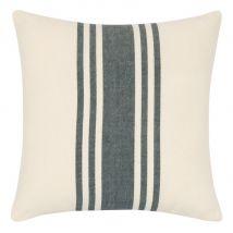 Housse de coussin en coton écru à motif gris 40x40 - Blanc - 40x40x0cm - Maisons du Monde