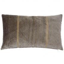 Housse de coussin grise et dorée 30x50 - Gris - 50x30x0cm - Maisons du Monde