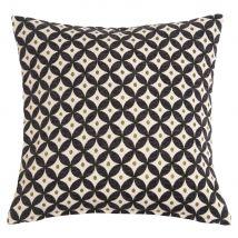 Kissen mit schwarzen und naturweißen Jacquard-Motiven 40 x 40 - Schwarz - 45x45x0cm - Maisons du Monde