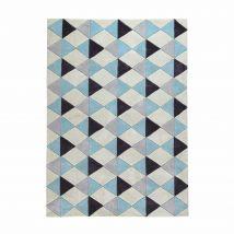 Kurzflorteppich NORDIC, blau, 160x230 - 160x230x2cm - Maisons du Monde