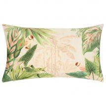 Kussenhoes met meerkleurige tropische print 30x50 - Beige - 50x30x0cm - Maisons du Monde