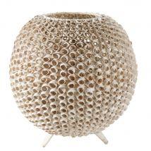 Lampe boule en rotin blanc - Blanc - 42x41.5x42cm - Maisons du Monde