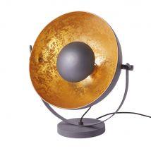 Lampe en métal noir et doré - Noir - 46x50x33cm - Maisons du Monde