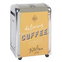 Metal Napkin Dispenser with Print (11x13x9.5cm) - Maisons du Monde