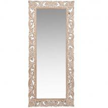 Miroir en manguier sculpté 54x130 - 54x130x3.5cm - Maisons du Monde