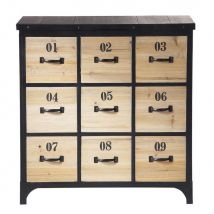 Mobiletto nero in metallo per CD/DVD H 78 cm Docks - Nero - 75x78x40cm - Maisons du Monde