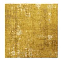 Mustard Yellow Woven Jacquard Rug 200x200 - 200x200x2cm - Maisons du Monde