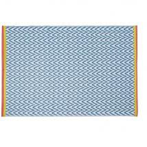 Outdoor-Teppich aus Polypropylen mit grafischen Motiven 180x270 - Blau - 180x270x1cm - Maisons du Monde