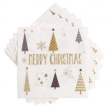 Pack Papierservietten weiß mit Druckmuster (x20) - Multicolor - 33x33x0cm - Maisons du Monde