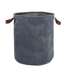 Panier à linge en velours gris - Gris - 42x50x42cm - Maisons du Monde