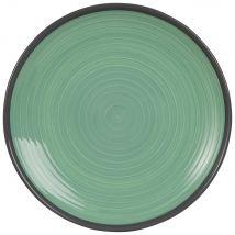 Plato llano de loza verde - Verde - 26.5x0x0cm - Maisons du Monde