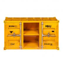 Porta-TV giallo in metallo a forma di container L 129 cm Carlingue - Giallo - 129x70x38cm - Maisons du Monde