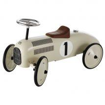 Porteur voiture en métal blanc crème L 76 cm VINTAGE - Beige - 76x40x35cm - Maisons du Monde