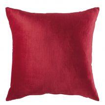 Red Velvet Cushion 45x45 - 45x45x10cm - Maisons du Monde