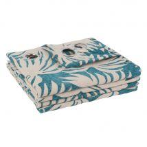 Rideaux à illets à motifs à l'unité 130x250 - Bleu - 130x250x0cm - Maisons du Monde