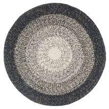 Runder Teppich aus Baumwolle, blau, weiß und grau D90 - 90x90x0cm - Maisons du Monde