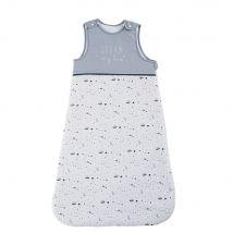 Sacco nanna evolutivo 0/18 mesi in cotone écru, bianco e blu stampato - Grigio - 45x90x5cm - Maisons du Monde