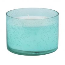 Scented Candle in Blue Bubble Glass Holder - 15x10x15cm - Maisons du Monde