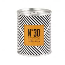 Scented Candle in Metal Holder with Three-Tone Graphic Print (7x8x7cm) - Maisons du Monde