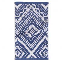 Serviette en coton bleu motifs graphiques 30x50 - 30x50x0cm - Maisons du Monde