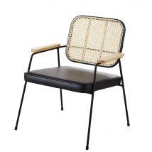 Sessel aus Wiener Geflecht aus Rattan und schwarzem Metall Sansa - 63.5x78x58.5cm - Maisons du Monde