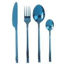 Set 24 posate in metallo blu turchese - Blu - 26.2x7.2x16.4cm - Maisons du Monde