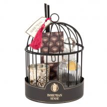 Set aus Duftspender-Gehäuse aus schwarzem Metall, Duftkerze und Duftsäckchen - Multicolor - 14x20x14cm - Maisons du Monde