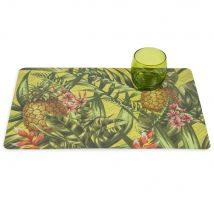 Set de table en plastique vert 29 x 42 cm TROPIC JUNGLE - 42x29x0cm - Maisons du Monde