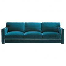 Sofa 4-/5-Sitzer aus Samt, blau Dandy - 263x88x95cm - Maisons du Monde