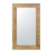 Specchio in mango scolpito con finitura dorata, 71x122 cm - 71x122x3.5cm - Maisons du Monde