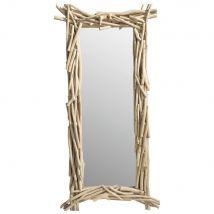 Spiegel aus Teak 153x75 - 153x75x13cm - Maisons du Monde