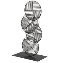 Statuetta in metallo traforato nero, 30 cm - Nero - 16x30x10cm - Maisons du Monde