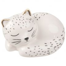 Statuette chaton en dolomite blanche L6 - 6x4.3x4.5cm - Maisons du Monde