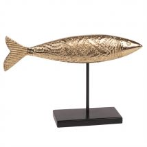 Statuette poisson doré L27 - 26.5x17x6cm - Maisons du Monde