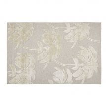 Tappeto intessuto jacquard beige e écru, 140x200 cm - Oro - 140x200x2cm - Maisons du Monde
