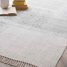 Teppich aus Baumwolle, 140 x 200 cm, CODOSERA - Weiß - 140x200x0cm - Maisons du Monde