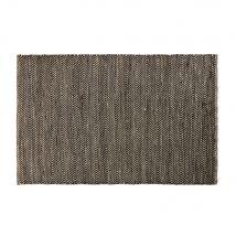 Teppich aus Baumwolle und Jute in Schwarz und Kastanienbraun mit Fischgrätmuster 160x230 - 160x230x2cm - Maisons du Monde