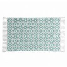 Teppich aus blauer Baumwolle mit Motiven 60x90 COLLIOURE - 60x90x0cm - Maisons du Monde