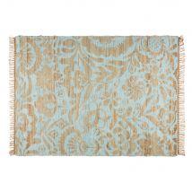 Teppich aus Jute und seegrüner Baumwolle 140x200cm LUKILA - 140x200x2cm - Maisons du Monde
