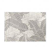 Teppich in Grau mit Blattmotiven in Ecru 140x200 - 140x200x2cm - Maisons du Monde