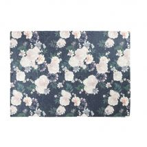 Teppich in Rosenrot und Schwarz mit Blumenmotiv 140x200 - Rosa - 140x200x2cm - Maisons du Monde