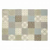 Teppich mit Fliesenmotiv 140 x 200 cm PROVENCE - Grau - 140x200x2cm - Maisons du Monde