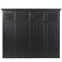 Tête de lit 160 en pin recyclé noir Sartre - Marron - 176x146x8cm - Maisons du Monde