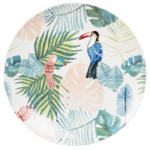 Tropical Print Porcelain Dinner Plate (25.4x0x0cm) - Maisons du Monde