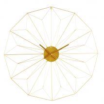 Wanduhr aus goldfarbenem Metall D.100 - 100x100x4.5cm - Maisons du Monde