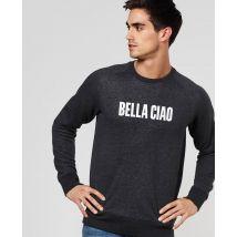 Sweatshirt homme Bella Ciao Noir chiné taille XS