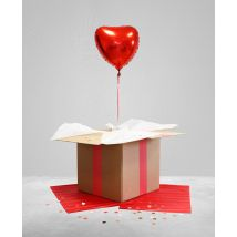 Ballon surprise Ballon coeur Rouge taille TU