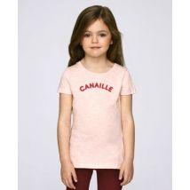 T-Shirt enfant Canaille Rose chiné taille 5 - 6 ans
