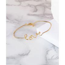 Bracelet Jonc love Or taille TU