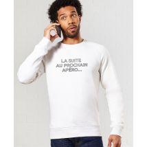 Sweatshirt homme Suite au prochain apéro Blanc chiné taille XS